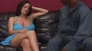 Busty milf seduced by horny black stud and banged Preview Image