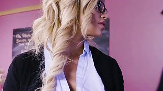 Busty prof Jessa Rhodes bangs with horny student Preview Image