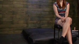 Busty redhead slut Rose Red with huge ass deepthroated and fucked rough Preview Image