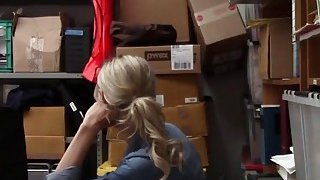 Blonde Thief Gets Banged From Behind In Office Preview Image