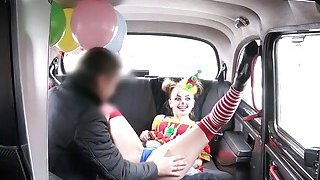 Clown babe squirts and fucks in fake taxi Preview Image