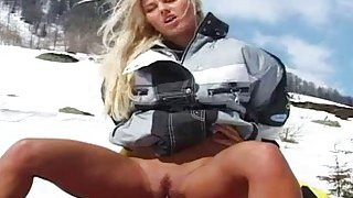 Sharon Bright Fucks on the_Snow Preview Image