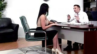 Big tits Jasmine Jae sucks cock of the best lawyer Preview Image