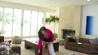 Young brunette Nina North made a mess in friend's house and now must be punished Preview Image