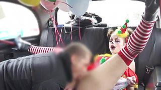 Hot clown got pussy banged in cab Preview Image