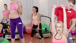 Fit Babes Angel Wicky And Katarina Muti Get Fucked After Workout Session Preview Image
