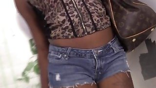 A fabulous ebony babe_Karma May sucks huge white cock and takes it in her pussy Preview Image