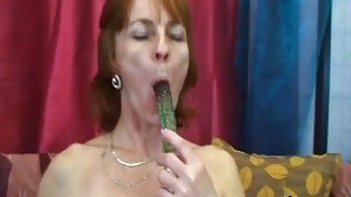 Slutty mature woman Ivet plays with a sex toy before blows hard cock and gets banged Preview Image