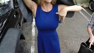 Big titted blonde MILF getting slammed hard in POV by_a truck driver Preview Image