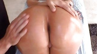 Pleasing woman is massaged Preview Image