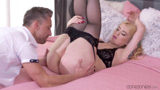 Big booty slut Misha rides a cock in some sexy lingerie Preview Image