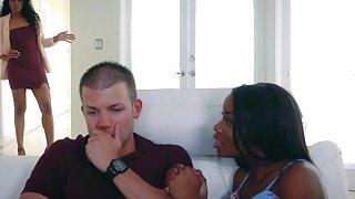 Hot ebony mom Yasmine bangs with Myas boyfriend Preview Image