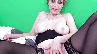 Old NannY Czech Grandma Milena Seductive Selffuck Preview Image
