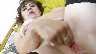 OldNannY Hot Mature Lady Solo Masturbation Showoff Preview Image