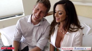 Alluring Ariella Ferrera plowed and painted white Preview Image