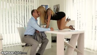 Office slut Angel Piaff gives her employee a raise in_his pants Preview Image