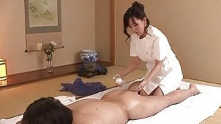 JAV wife Manami Komukai CFNM rimjob massage clinic Preview Image