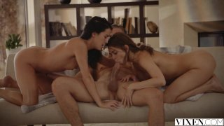 Riley Reid and Megan Rain threesome on a hot summer_day Preview Image