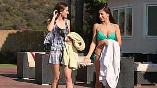 Poolside lesbo hotness Preview Image