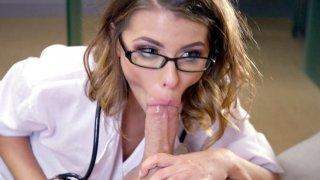 Adriana_Chechik_sucks_cock_and_licks_balls_in_POV Preview Image