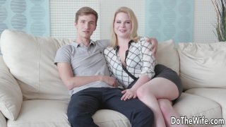 Blond Wife Adry Berty Fucks a Stud in Front of Her Loser Husband Preview Image