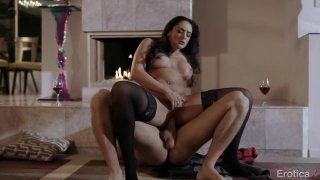 Big booty babe has passionate lovemaking session by the fireplace Preview Image