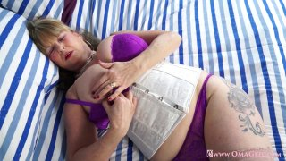 OmaGeiL Huge Granny Boobs Solo Showoff and Toys Preview Image