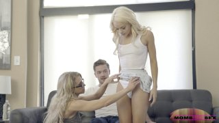 Mommy and teen share a boner in a hardcore threeway Preview Image