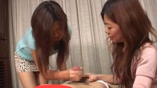 JAV CFNM bound for femdom handjob with cumshot Preview Image