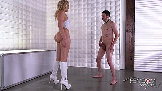 Balls kicking femdom with a blonde Preview Image