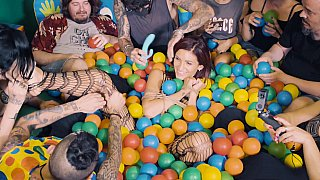 Ball pit babe gets teased on cam Preview Image
