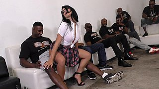 Brazilian Latina gets gang-banged by BBCs Preview Image
