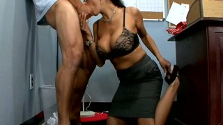 College teacher Carmela Bing gives great blowjob Preview Image