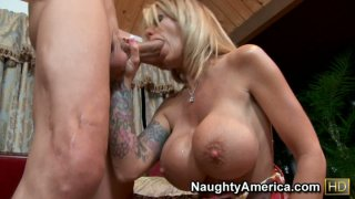 Sexy aunty Olivia giving hot blowjob_and_titsjob Preview Image