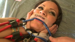 Sophia Lomeli's pussy producing light in_BDSM games Preview Image
