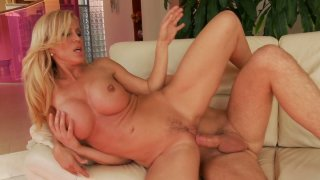 Amber Lynn gets fucked on the white couch Preview Image