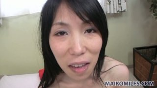 Yuko Mukai fools around in the bathroom and blows small dick Preview Image