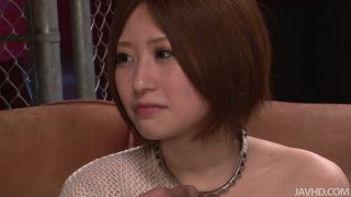 Shy japanese babe Ruri Haruka ordered to take off her clothes Preview Image