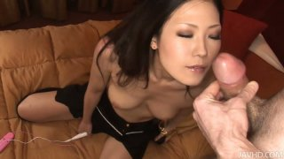 Brunette asian MILF gives blowjob_and fucks missionary Preview Image
