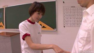 Petite Japanese girl_Akina Hara blowjob_classes Preview Image