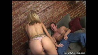 Blonde cougar Emma Starr visits man in his dreams to blow his cock Preview Image