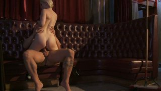 Kinky blonde slut Ash Hollywood rides and takes huge facial Preview Image