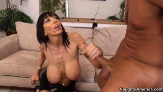 Mature cum dumpster Alia Janine gives titjob and receives licking Preview Image