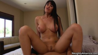 Eva Karera rides and exposes her big boobs with tiny nipples Preview Image