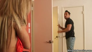 Appetizing blonde babe Chloe Chaos gets her boobies sucked Preview Image