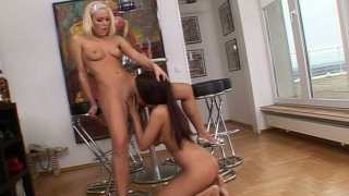 Blonde babe Sophie Moone plays with brunette Jane_F Preview Image