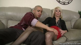Slutty blond housewife Jodie Stacks is ready for a doggy fuck Preview Image