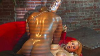 Thick black rod tears apart Trina Michaels's sweet asshole Preview Image