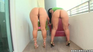 Two whores Luscious Lopez and Ava Rose with big asses please each other Preview Image