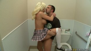 Britney Amber gets doggy fucked in the toilet Preview Image